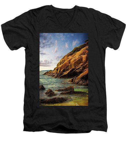 Acadia National Park--maine Men's V-Neck T-Shirt by Sherman Perry