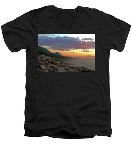 Acadia Sunrise  Men's V-Neck T-Shirt