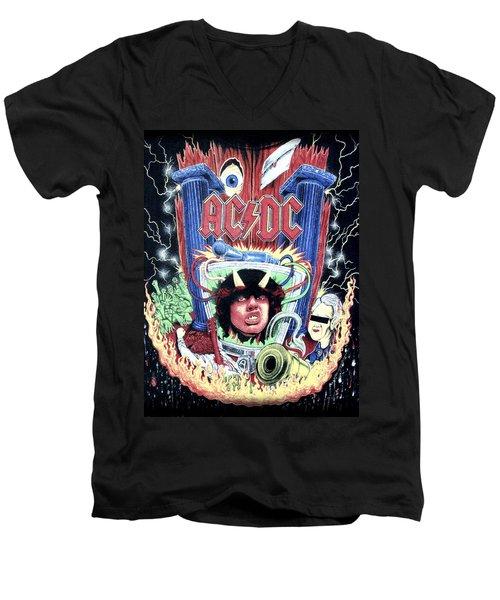 Acdc Men's V-Neck T-Shirt