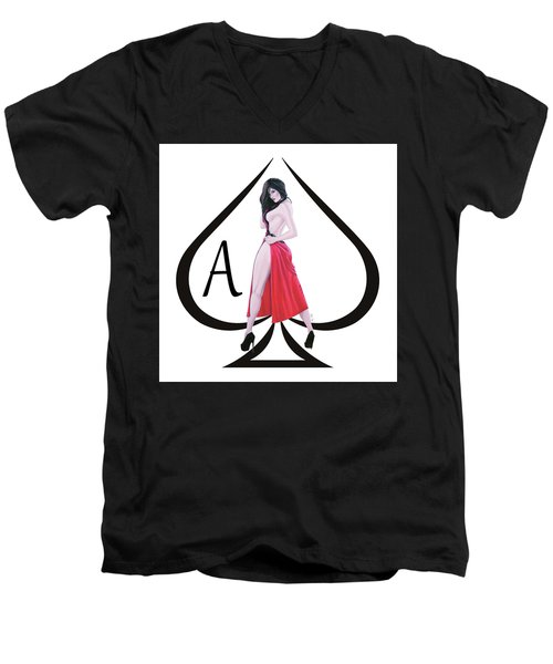 Ace Of Spades3 Men's V-Neck T-Shirt