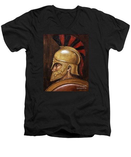 Achilles Men's V-Neck T-Shirt by Arturas Slapsys
