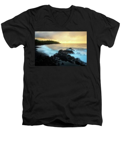 Men's V-Neck T-Shirt featuring the photograph Adam And Eve by Ryan Manuel