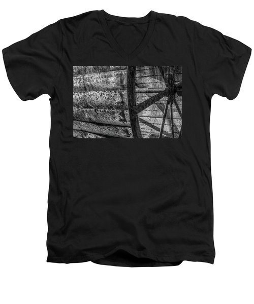 Adam's Mill Water Wheel Men's V-Neck T-Shirt