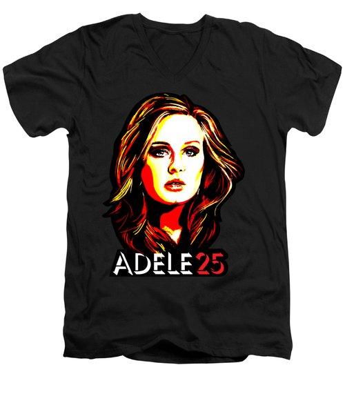Adele 25-1 Men's V-Neck T-Shirt by Tim Gilliland