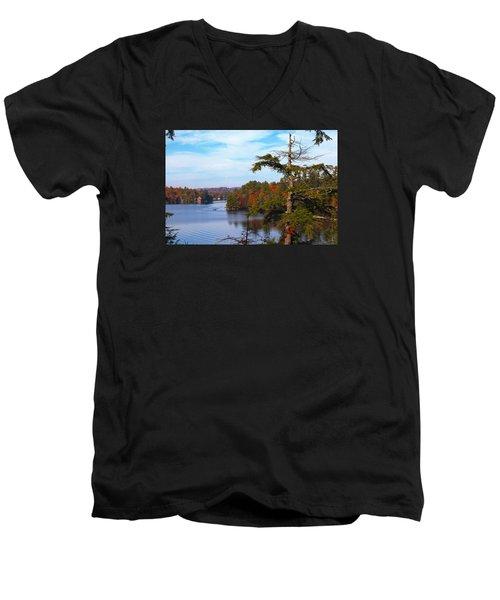 Adirondack View Men's V-Neck T-Shirt