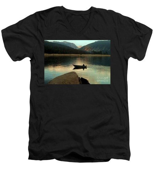 Admiring God's Work Men's V-Neck T-Shirt by Desiree Paquette