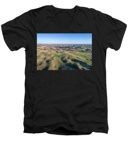 aerial view of Nebraska Sand Hills  Men's V-Neck T-Shirt