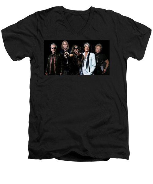 Aerosmith Men's V-Neck T-Shirt