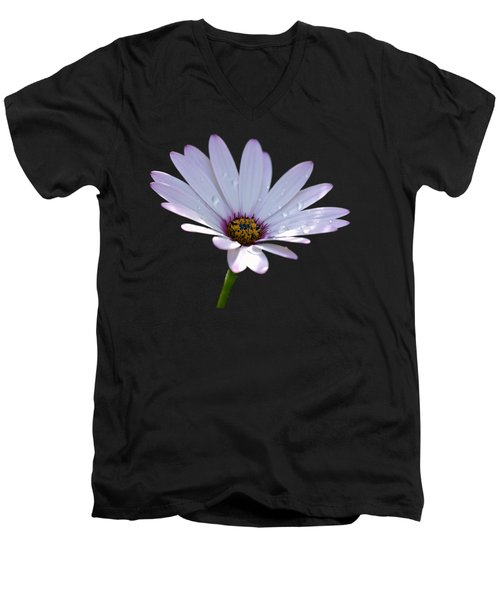 African Daisy Men's V-Neck T-Shirt by Scott Carruthers