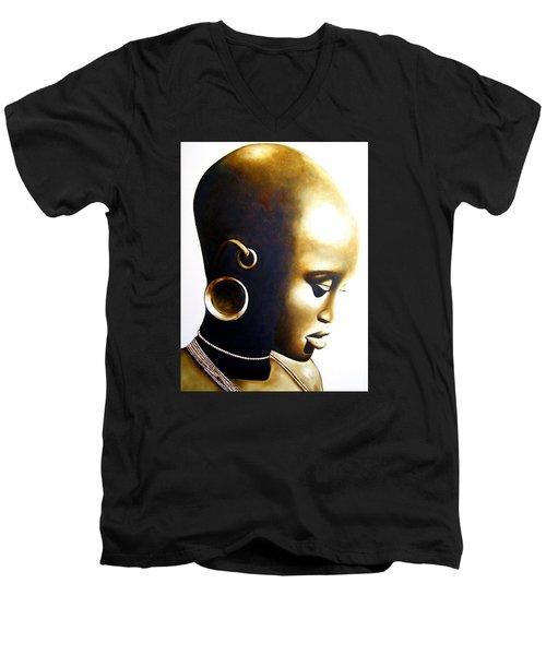 African Lady - Original Artwork Men's V-Neck T-Shirt