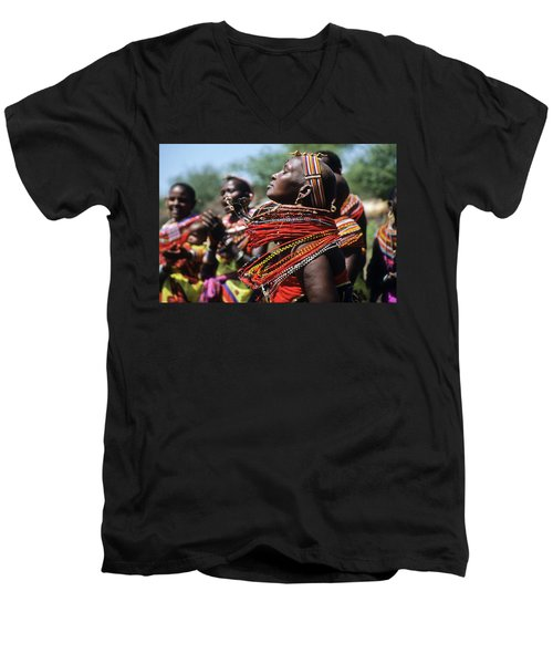 African Rhythm Men's V-Neck T-Shirt