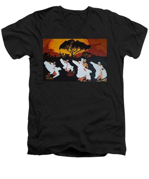 Afro Carib Dance Men's V-Neck T-Shirt