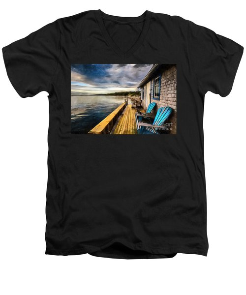 After Sunset Men's V-Neck T-Shirt