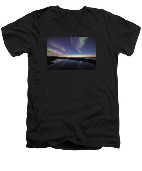 After Sunset Iv Men's V-Neck T-Shirt
