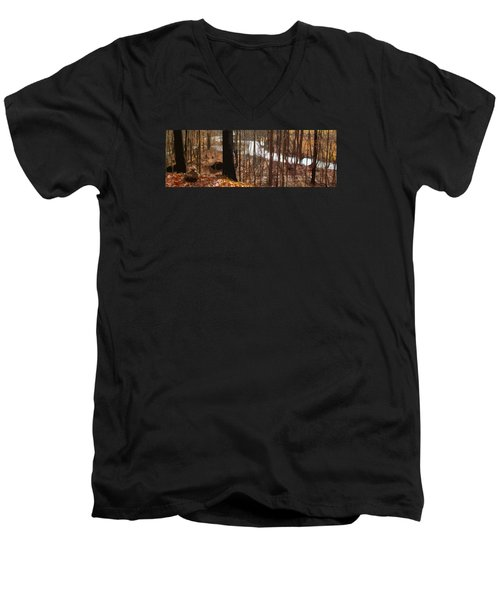 Men's V-Neck T-Shirt featuring the photograph After The Rain by Spyder Webb