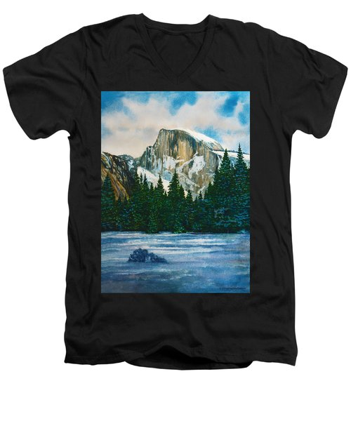 After The Snowfall, Yosemite Men's V-Neck T-Shirt by Douglas Castleman