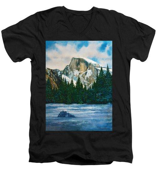 After The Snowfall, Yosemite Men's V-Neck T-Shirt