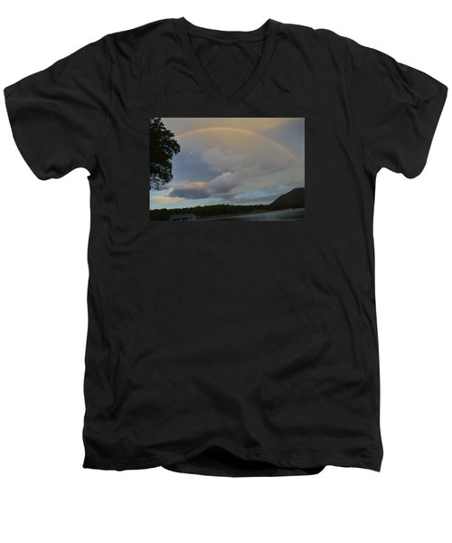 Men's V-Neck T-Shirt featuring the photograph After The Storm by James McAdams