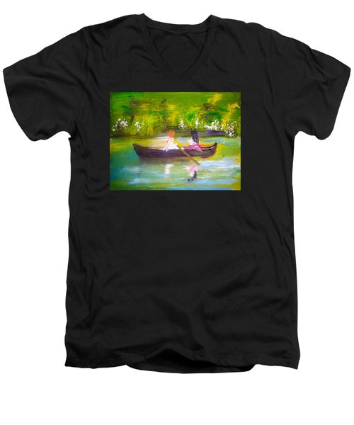Afternoon By Colleen Ranney Men's V-Neck T-Shirt