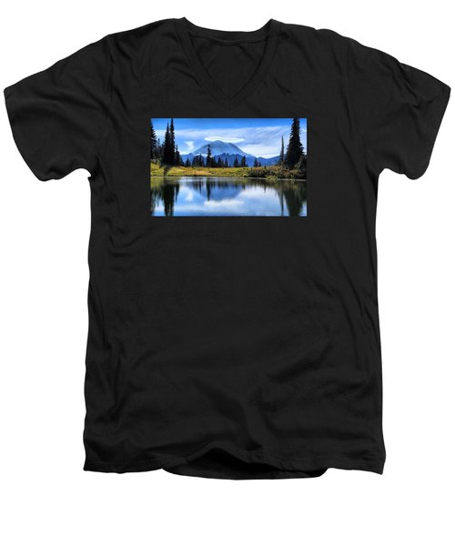 Men's V-Neck T-Shirt featuring the photograph Afternoon Delight by Lynn Hopwood
