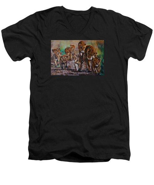 Afternoon Stroll Men's V-Neck T-Shirt by Maris Sherwood