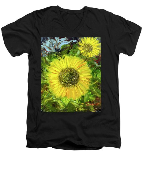 Afternoon Sunflowers Men's V-Neck T-Shirt