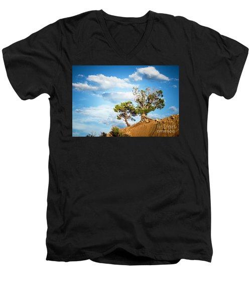 Against All Odds Men's V-Neck T-Shirt