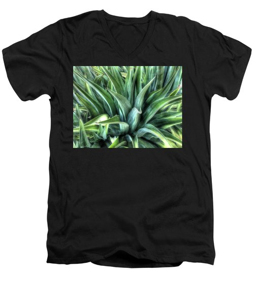Men's V-Neck T-Shirt featuring the photograph Agave by Lynn Geoffroy