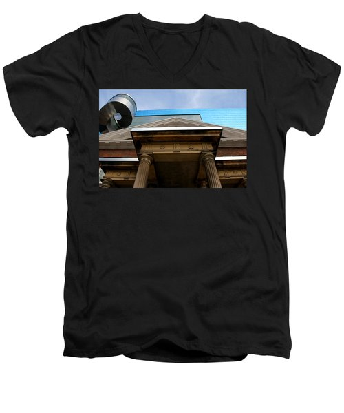 Ago 1 Men's V-Neck T-Shirt by Andrew Fare