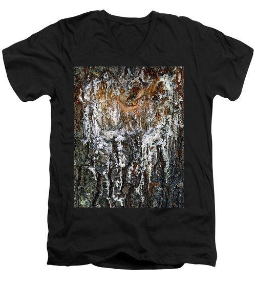 Men's V-Neck T-Shirt featuring the photograph Agony And Ecstasy by Lynda Lehmann