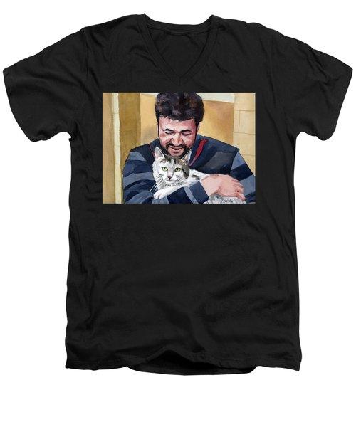 Alaa And Samson Men's V-Neck T-Shirt