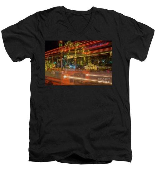 Alamo Via Streetcar Men's V-Neck T-Shirt