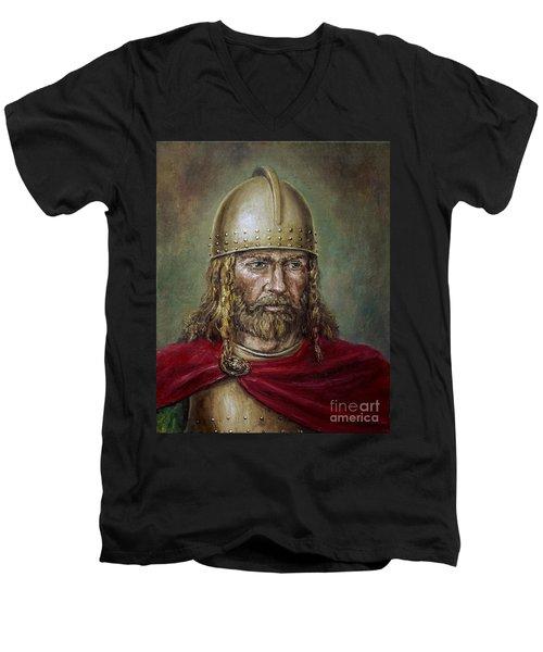 Alaric The Visigoth Men's V-Neck T-Shirt by Arturas Slapsys