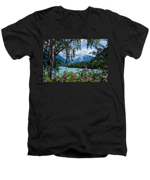 Alaska Through The Trees Men's V-Neck T-Shirt