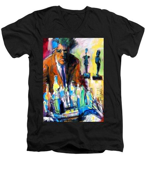 Alberto Men's V-Neck T-Shirt by Les Leffingwell