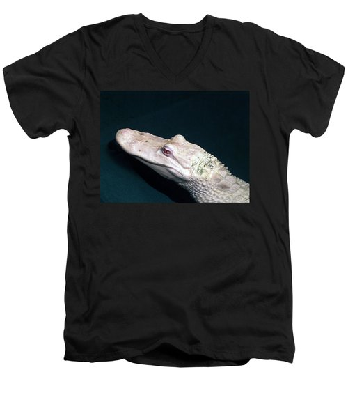 Albino Alligator  Men's V-Neck T-Shirt