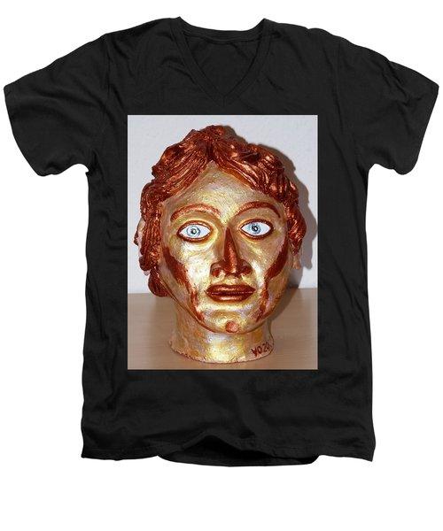 Alexander The Great Men's V-Neck T-Shirt by Valerie Ornstein