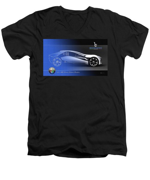 Alfa Romeo Bertone Pandion Concept Men's V-Neck T-Shirt by Serge Averbukh