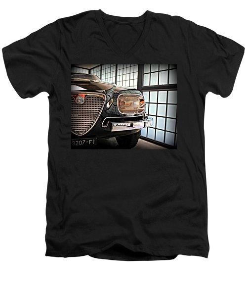 Alfa Romeo In Black Men's V-Neck T-Shirt
