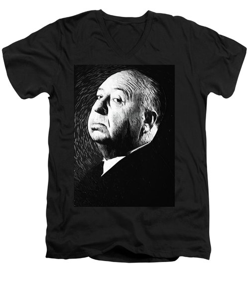 Alfred Hitchcock Men's V-Neck T-Shirt