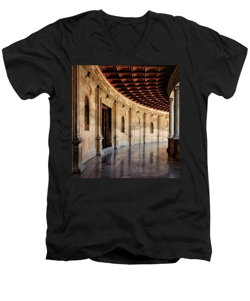 Alhambra Reflections Men's V-Neck T-Shirt by Marion McCristall