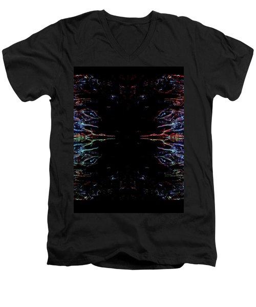 Alien Face Off Men's V-Neck T-Shirt