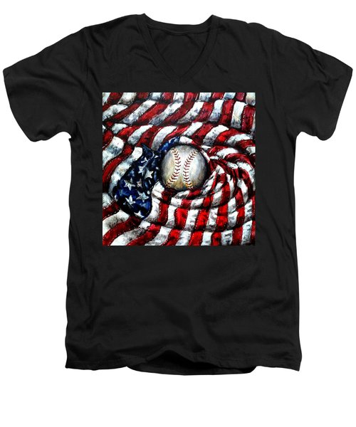 All American Men's V-Neck T-Shirt
