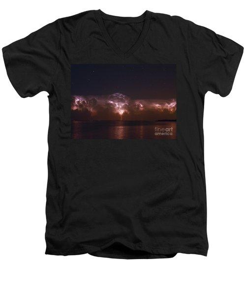 All Night Long Men's V-Neck T-Shirt by Quinn Sedam