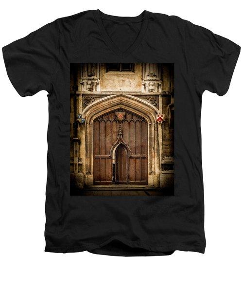 Oxford, England - All Souls Gate Men's V-Neck T-Shirt
