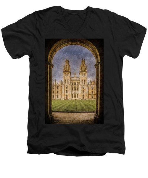 Oxford, England - All Soul's Men's V-Neck T-Shirt