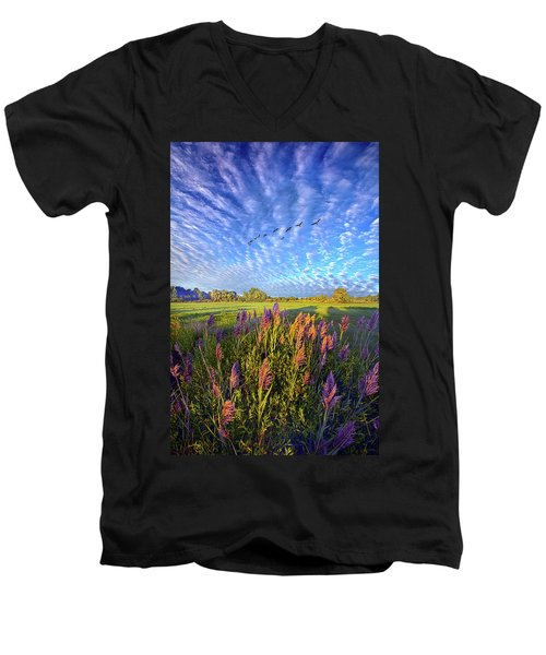 All Things Created And Held Together Men's V-Neck T-Shirt