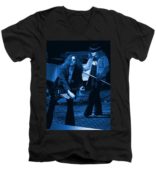 Allen Collins And Ronnie Van Zant Same Old Winterland Blues Men's V-Neck T-Shirt
