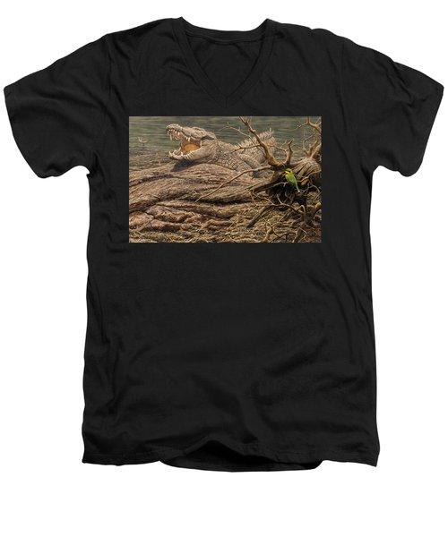 Alligator Men's V-Neck T-Shirt