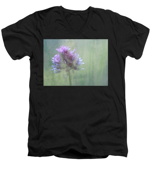 Allium Impressionism Men's V-Neck T-Shirt by Catherine Alfidi